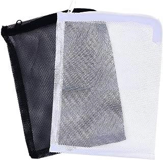Balacoo Aquarium Media Filter Mesh Bags - Reusable Fish Tank Charcoal Filter Bag with Drawstrings,Fresh or Saltwater Tanks...