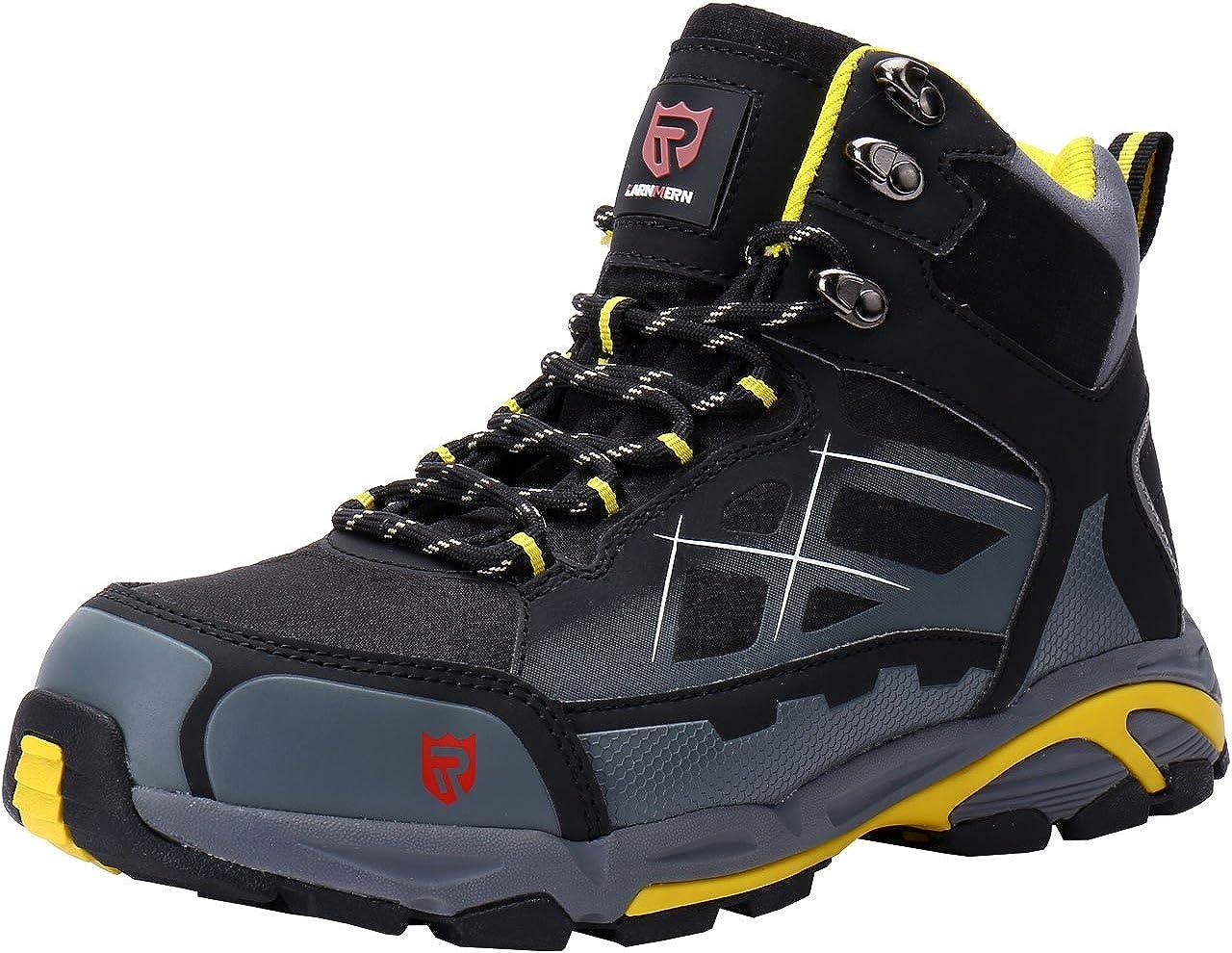 LARNMERN Zapatos de Seguridad para Hombre Puntera de Acero Zapatillas Seguridad Trabajo Calzado de Industrial