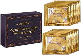 Mascarilla de ojos de colágeno con oro de 24 quilates. Paquete de 10 pares de mascarillas. De Aliver