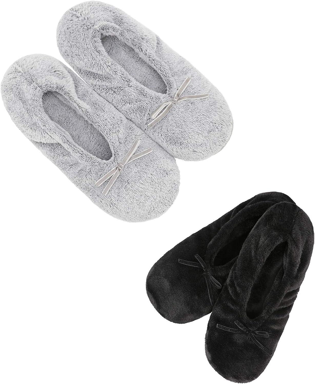 Panda Bros 2 Pairs Gorgeous Women's Slippers Ballerina C House Surprise price Anti-Skid