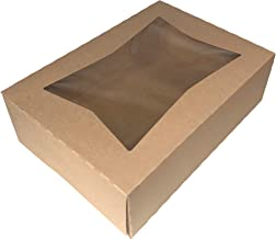 Multiple Size and Color Options - 6 Superior Quality Bakery Take Out Cake and Cookie Boxes with Display Window- (14