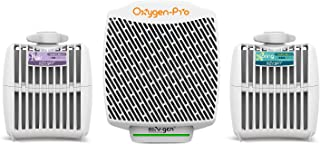 Oxygen-Pro - Starter Kit - Commercial Air Freshener and Deodorizer, Wall Mounted, Battery Operated Automatic Dispenser, Odor Eliminator, and Fragrancing System (Light Scent)