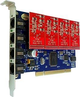 Asterisk カード FXO カード TDM400P + 4 FXO モジュール,PCI,Issabel,Freepbx,Asterisk,AsteriskNow TDM400