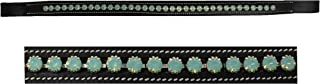St. Charles BROWBAND Bling Crystal Horse English Bridle USA Leather Polo Black 809168