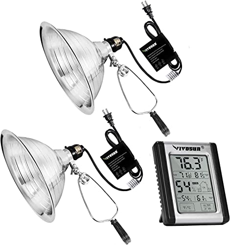 popular VIVOSUN Clamp Lamp with high quality Detachable Aluminum Reflector(No Bulb Included) wholesale and Digital Indoor Thermometer and Hygrometer online sale