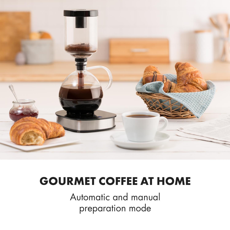 KLARSTEIN Drop Siphon Coffee Maker Cafetera de vacío - Pantalla ...