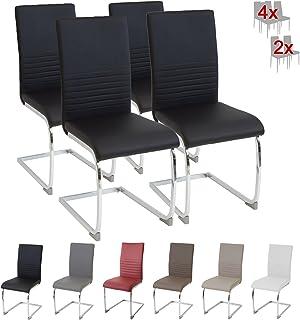 Albatros silla cantilever BURANO Set de 4 sillas Negro SGS probado
