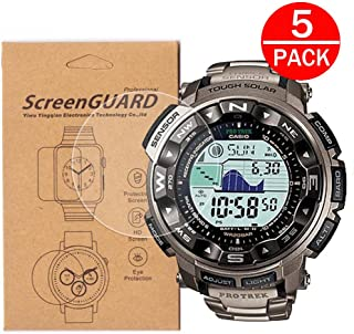 [5-Pack] for Casio PRW-2500 / PRW2500 Watch Screen Protector,Full Coverage Screen Protector for Casio PRW-2500/PRW-2500T/PRW-2500R Watch HD Clear Anti-Bubble and Anti-Scratch