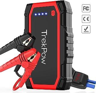 comprar comparacion TrekPow A18 Arrancador de Coches 800A, Jump Starter con Pinzas Inteligentes, Banco de Baterías con USB QC3.0 & Tipo C, Dis...