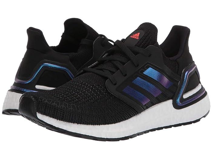 adidas Kids  UltraBOOST 20 (Big Kid) (Black/Blue Metallic/White) Kids Shoes