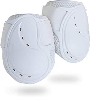 Classic Fetlock Boots, Impact-Absorbing and Air-Perforated Material, Durable & Evenly Distributes Pressure, Fetlock Injury Protection, Non- Slip with Soft Lining Show Jumping Boots
