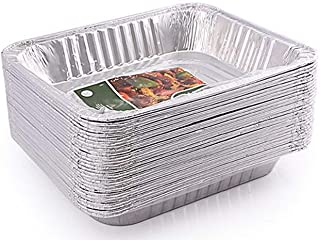 30-Count 9x13 Disposable Aluminum Foil Half Size Deep Steam Table Baking Pans Great for Catering, Heating, Storing, Prepping Food