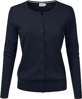 77e4b8198c NINEXIS Women s Long Sleeve Button Down Soft Knit Cardigan Sweater
