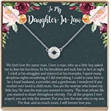 Daughter-in-Law Necklace - Heartfelt Card & Jewelry Gift for Birthday, Wedding