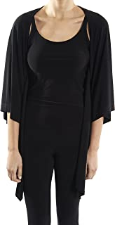 Joseph Ribkoff Black Silky Knit Batwing Sleeve Cover up Style 182141