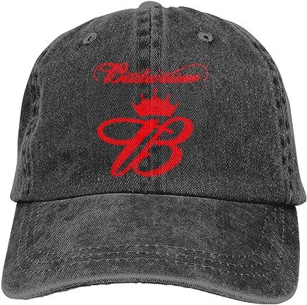 62e6ee189253e Budweiser Classic Baseball Caps Adjustable Hat Denim Fabric
