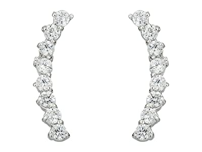 Vince Camuto Cubic Zirconia Thin Stud Earrings (Silver) Earring