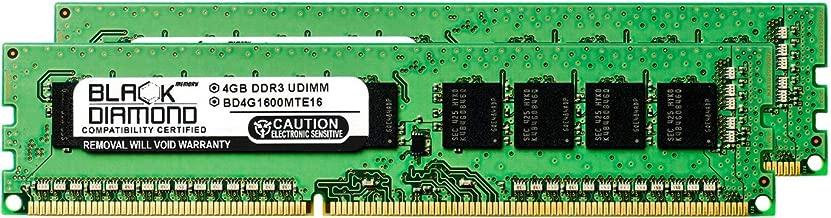 8GB 2X4GB RAM Memory for Asus Servers RS926-E7/RS8 DDR3 ECC UDIMM 240pin PC3-12800 1600MHz Black Diamond Memory Module Upgrade