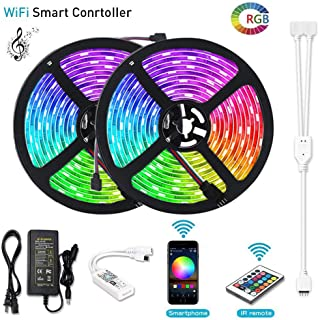 Litake LED Strip Lights, WiFi Wireless Smart Phone APP Controlled Light Strip Kit 32.8ft 300 LEDs 5050 Waterproof IP65 LED Lights, Working with Android/iOS System, Alexa
