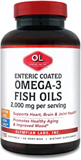 Olympian Labs Enteric Coated Fish Oil, 2000 mg/serving, 60 servings, 120 softgels