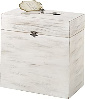 Lillian Rose White Rustic Country Wooden Wedding Card Box