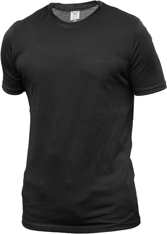 Merino 365 Men's Short Sleeve T, New Zealand Merino, Black