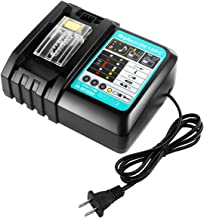 FLAGPOWER 18V DC18RC Battery Charger for All Makita 7.2V-18V Lithium-ion Battery BL1430 BL1830 BL1840 BL1850 BL1815 BL1440 US Plug Fast Charger