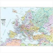 Cartina Politica Europa Da Stampare Formato A4.Amazon It Cartina Mappa Politica E Fisica Di Italia