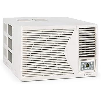 KLARSTEIN Frostik - Climatiseur de fenêtre, compresseur de climatisation de 9000 BTU / 2,7 KW, Classe énergétique A, réfrigérant R32, télécommande, réglable Entre 16 et 30 ° C, minuterie, Blanc