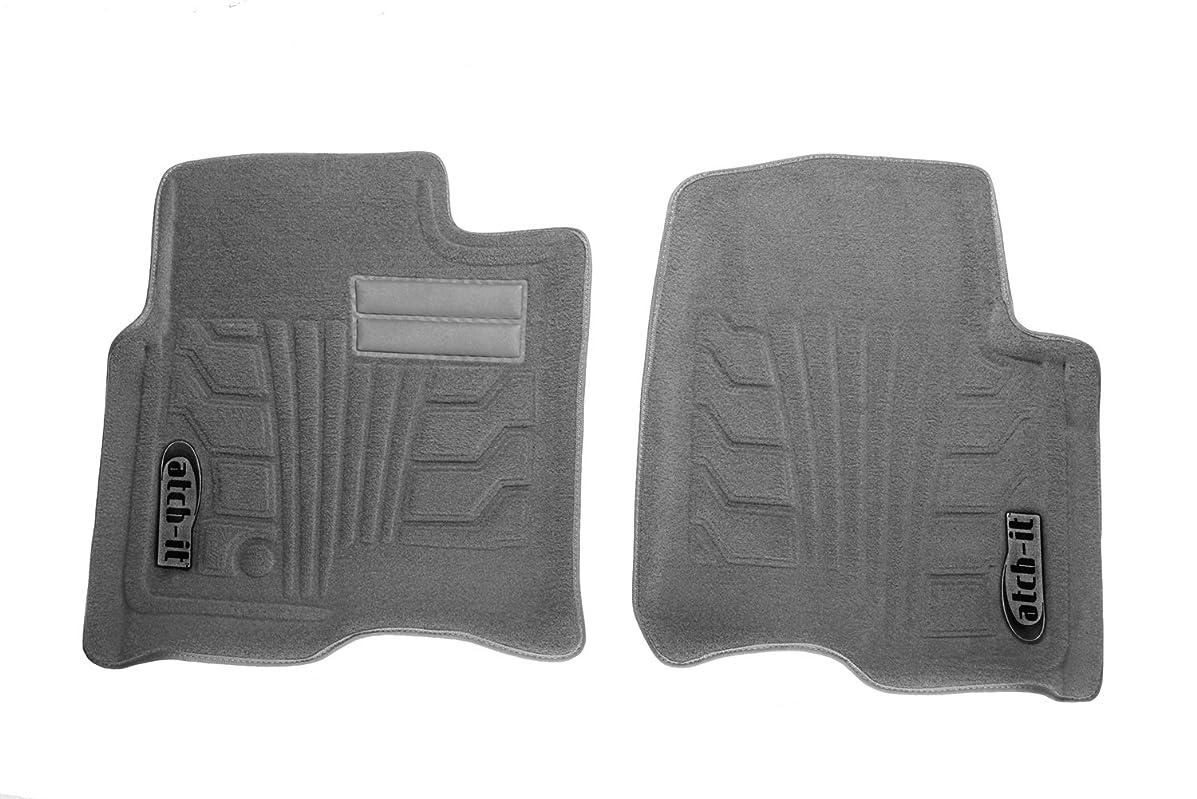 Lund 583096-G Catch-It Carpet Grey Front Seat Floor Mat - Set of 2