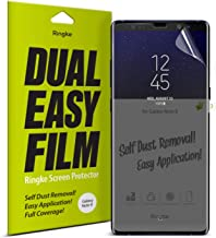 Ringke Dual Easy Film (2 Pack) Compatible with Galaxy Note 8 High Resolution Anti-Smudge Coating Easy Application Case Friendly Screen Protector for Note8