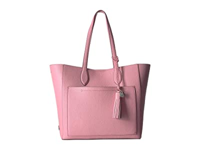 Cole Haan Piper Leather Tote (Flamingo Pink) Tote Handbags