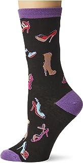 K. Bell Socks womens My Job! Novelty Casual Crew Socks, Fashionista (Black), Shoe Size: 4-10