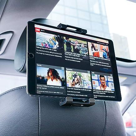 """Supporto Auto Poggiatesta per Tablet, Lamicall Supporto Tablet : Universale Supporto per 5~13"""" Tablet come Pad 2018 Pro 9.7, 10.5, Pad Air mini 2 3 4, Phone, Samsung Tab, altri Tablets - Nero"""