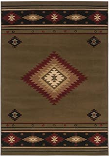 Oriental Weavers Sphinx Hudson 1.83 ft. x 3.25 ft. Casual Rug - Green and RedKitchen & Dining