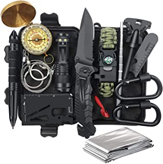 Gifts for Men Dad Husband Fathers Day from Daughter Wife Son, Survival Gear and Equipment 14 in 1, Fishing Hunting Birthda...