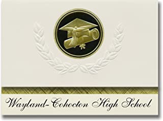 Signature Announcements Wayland-Cohocton High School (Wayland, NY) Graduation Announcements, Presidential style, Elite pac...