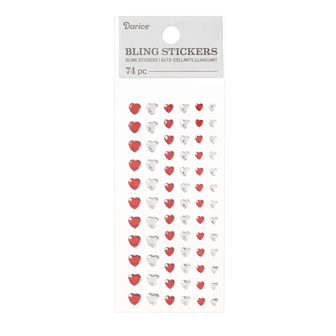 Darice 30053419 Bling Stickers Clear/Red