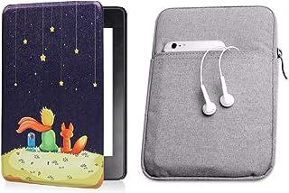 Capa Kindle 10ª geração com iluminação embutida Prince Silicone - Função Liga/Desliga - Fechamento magnético + Bolsa Sleev...