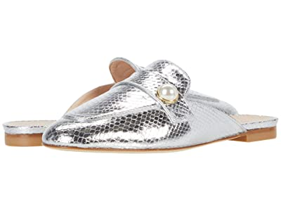 Stuart Weitzman Payson Slide Pearl (Silver) Women