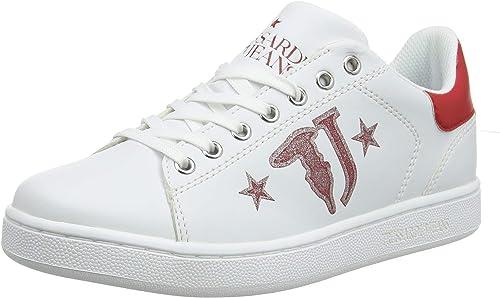 Trussardi Trussardi Jeans paniers Printed Logo with Stars, Chaussures de Gymnastique Femme  haute qualité générale