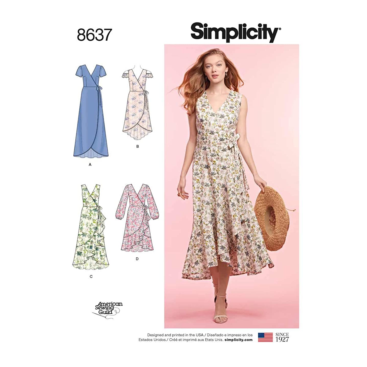 Simplicity Patterns US8637H5 Dresses, H5 (6-8-10-12-14)