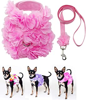 Dashin' Dogz Pink Dog Harness and Leash Set for XSmall & Small Breeds Like Chihuahua, Teacups, Yorkys Puppy Harness