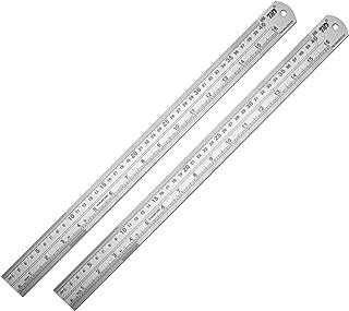 Ruler Metal Straight Edge Ruler Stainless Steel Ruler 16 Inch Ruler Set Rulers Bulk 2 Pack