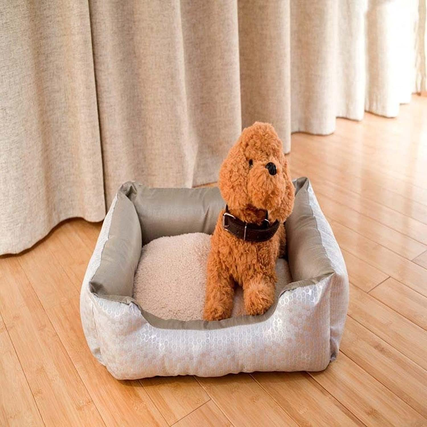 Dixinla Pet Bed Thickened Cute Polka dot pet Nest Pet Supplies