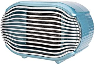 Ventilador calefactor eléctrico portátil,mini aire calefactor 800W Calefacción rápida con protección contra sobrecalentamiento para el hogar,la oficina y el dormitorio Calentador de invierno,Azul