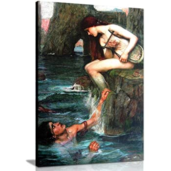 The Art Stop John William Waterhouse Mermaid Old Master Painting Print Picture F12X467