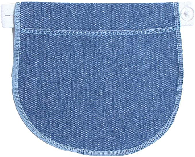 Maternity Pregnancy Waistband Belt Adjustable Elastic Pants Extended Button //Neu