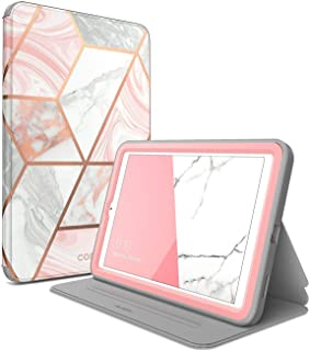 i-Blason Case Designed for Galaxy Tab A 8.0(SM-T387) 2018, [Cosmo Series] with Built-in Screen Protector Full-Body Lightweight Leather Hybrid Protective Case for Tab A 8.0 2018 Release (Marble)