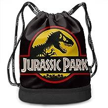 Luckystar Jurassic Park Movie Park Staff Logo Sports Backpack Leisure Travel Bag Shoulder Bag Bundle Backpack Handbag